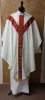 Almy White/Red Chasuble